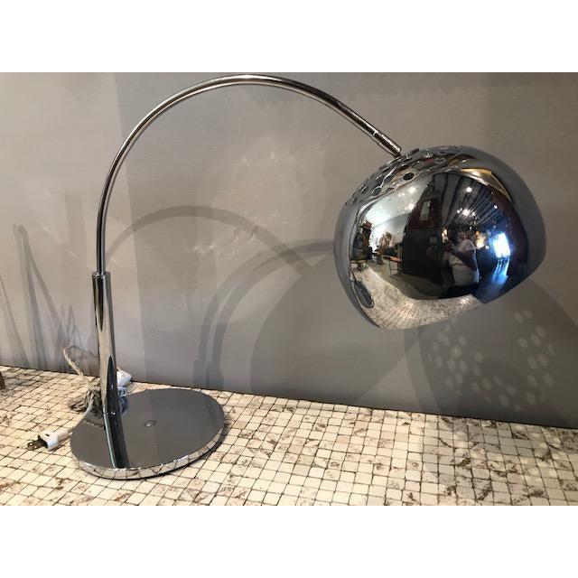 1970s Mod Chrome Arc Modern Desk Lamp For Sale - Image 5 of 9