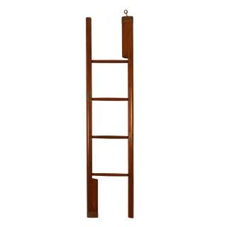 C.1920 Anglo Indian Mahogany & Brass Folding Elephant Ladder