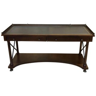 Baker Mahogany Campaign Style Console, Desk or Server