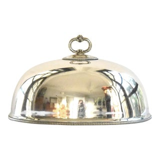 Antique Silver Plate Dome Cloche Meat Cover For Sale