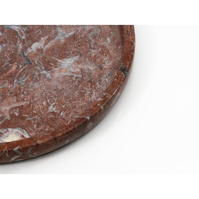 "Stone Red Limestone ""Ciotola"" Centerpiece by E. Di Rosa & P.A. Giusti for Up & Up 1971 For Sale - Image 7 of 11"