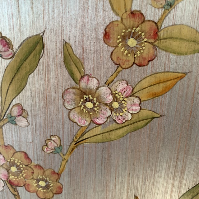 Blue Hand Painted Chinoiserie Wall Panels- a Pair For Sale - Image 8 of 13
