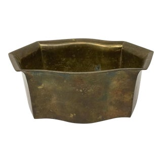 Vintage Heavy Brass Planter