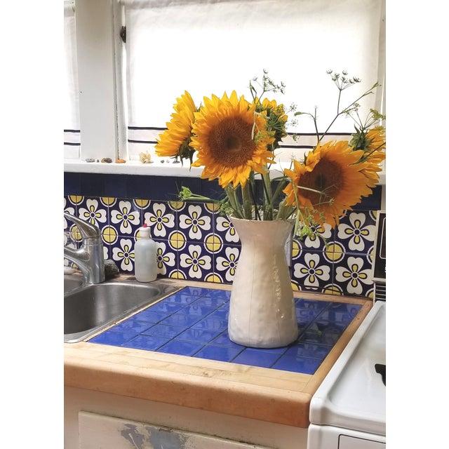 2010s White Ceramic Vase For Sale - Image 5 of 8