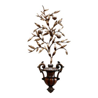 1990s Italian Neoclassic Style Carved Wall Sculpture For Sale