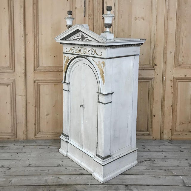 Mid 19th Century 19th Century French Neoclassical Painted Tabernacle For Sale - Image 5 of 13