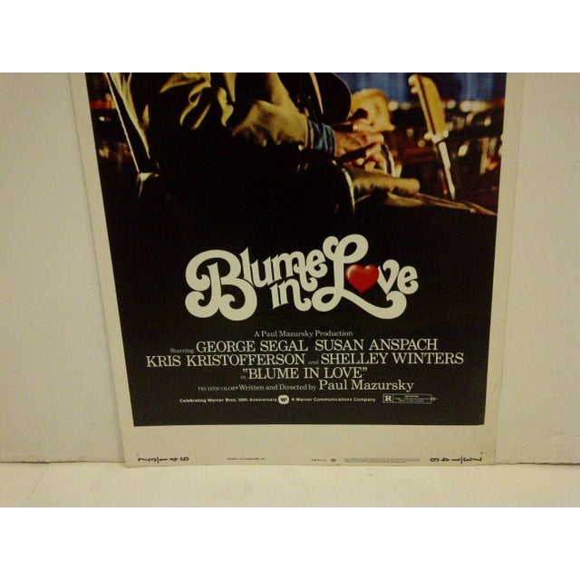 """Blume in Love"" 1973 Vintage Movie Poster For Sale - Image 4 of 5"