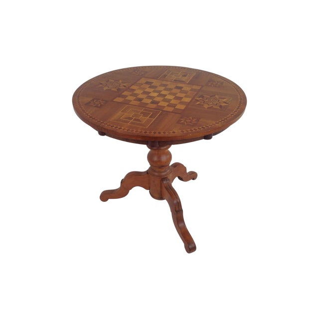 Antique Dutch Marquetry Tea Table - Image 1 of 8