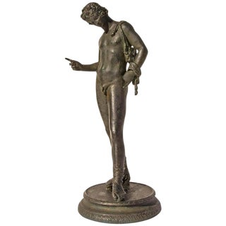Grand Tour Bronze Sculpture of Narcissus For Sale