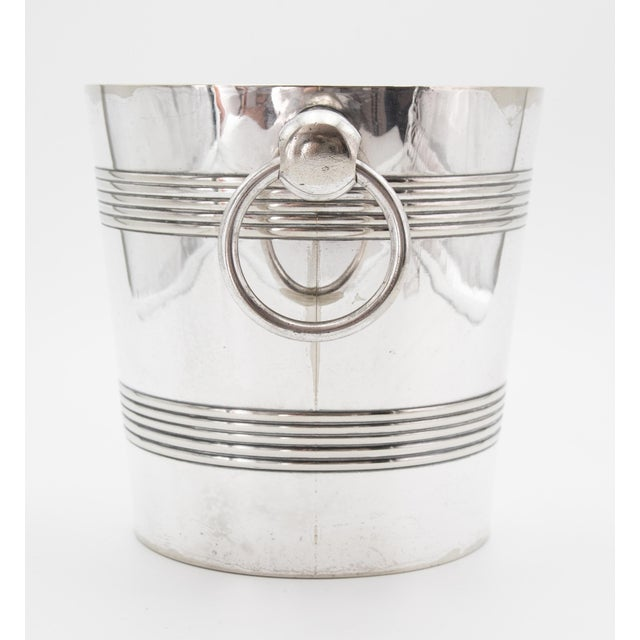 Art Deco Mid-Century Belgian Silver Plate Champagne Bucket For Sale - Image 3 of 8