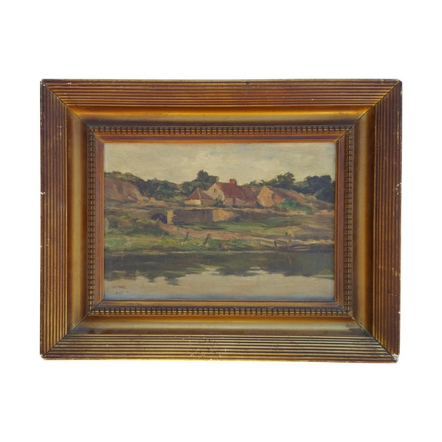 England Cottage On the River Avon Painting - Image 1 of 6