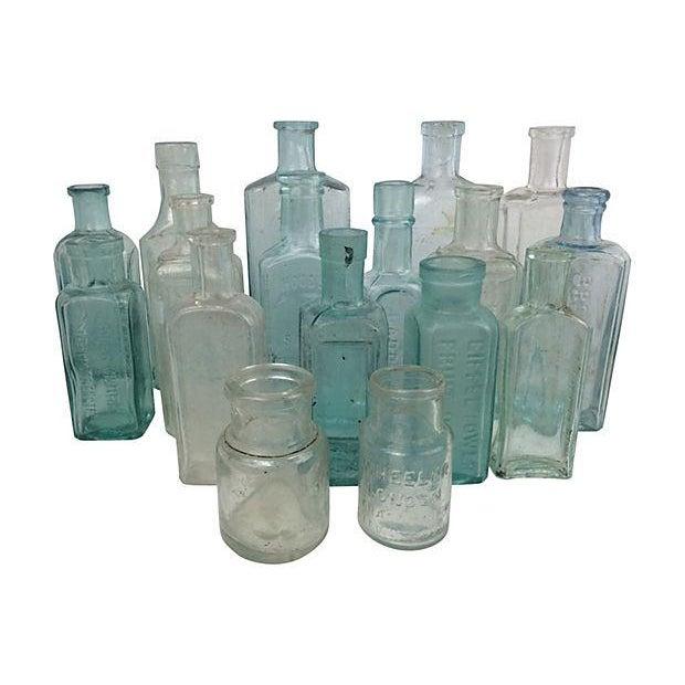 English Antique Apothecary Bottles - Set of 17 - Image 1 of 2