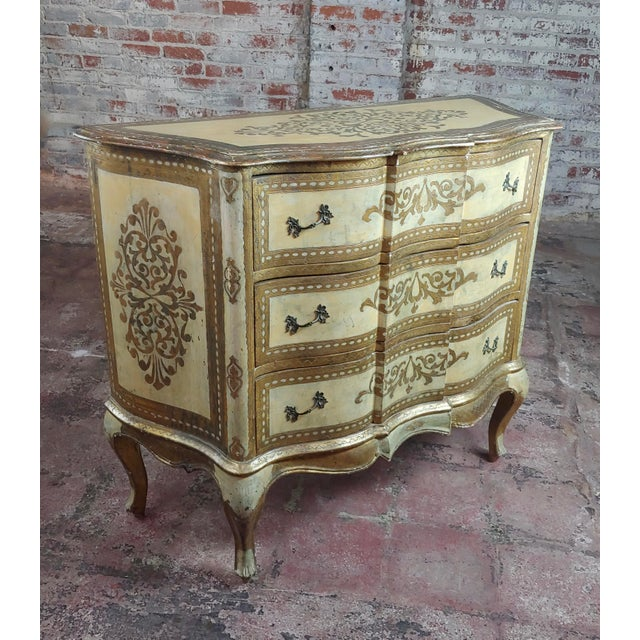 "Beautiful Italian Florentine Gilt Chest of Drawers Commode size 39 x 16 x 34"" A beautiful piece that will add to your..."