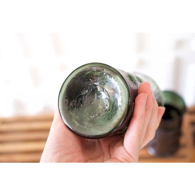 Felipe Delfinger Mid-Century Brutalist Glass Tumblers by Felipe Derflinger - Set of 4 For Sale - Image 4 of 9