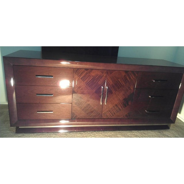 Wood Excelsior Designs Italian High Gloss Dresser For Sale - Image 7 of 7