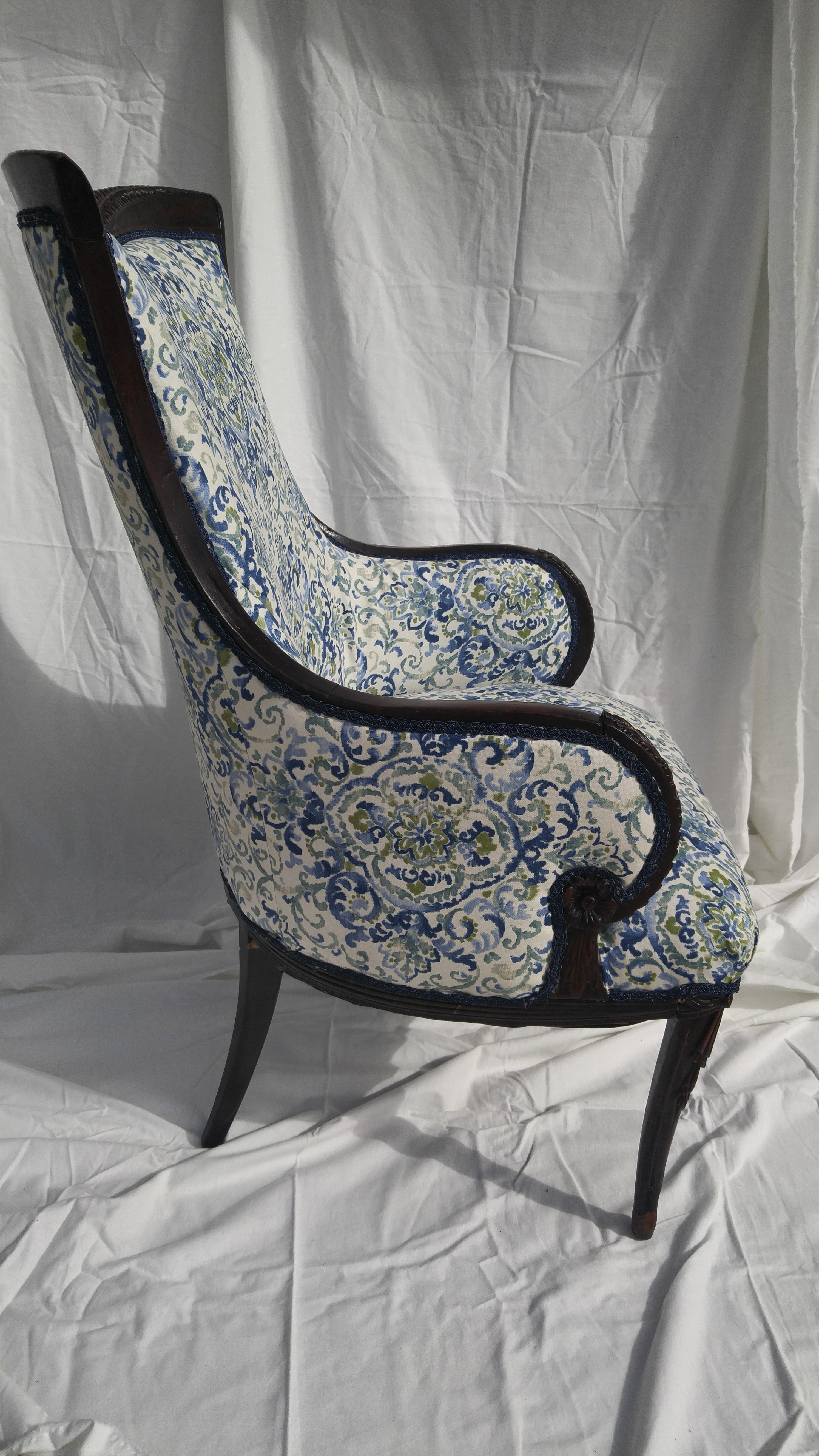 Beau Transitional Antique Wooden Arm Chair   Image 4 Of 11