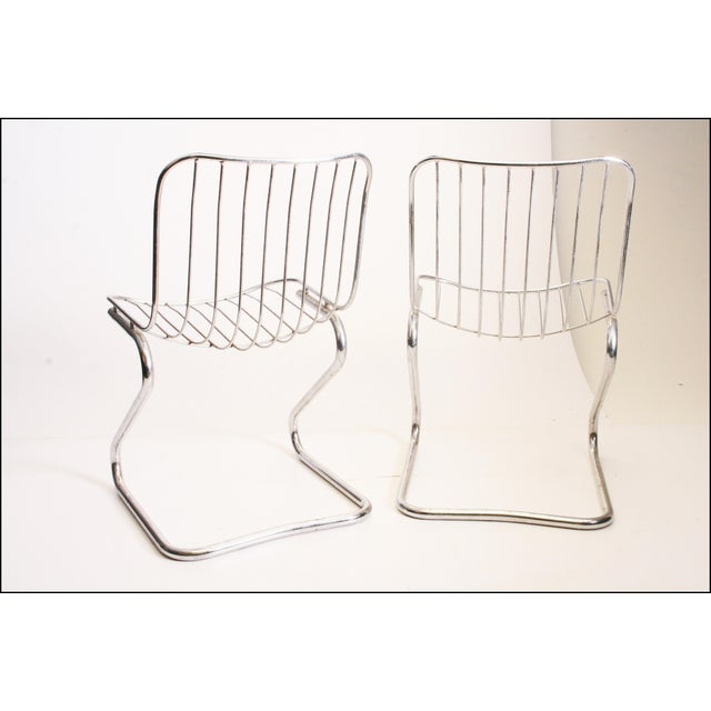 Vintage Italian Chrome Metal Dining Chairs - Set of 4 - Image 5 of 11