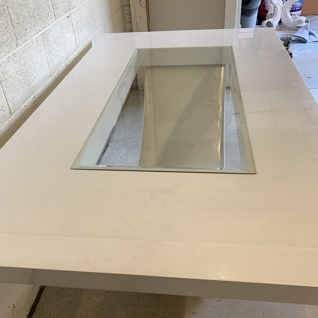 Contemporary High Gloss Lacquer Dining Table Extends For Sale - Image 4 of 12