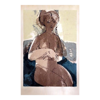 "r.a. Smith ""Seated Figure"" Serigraph"