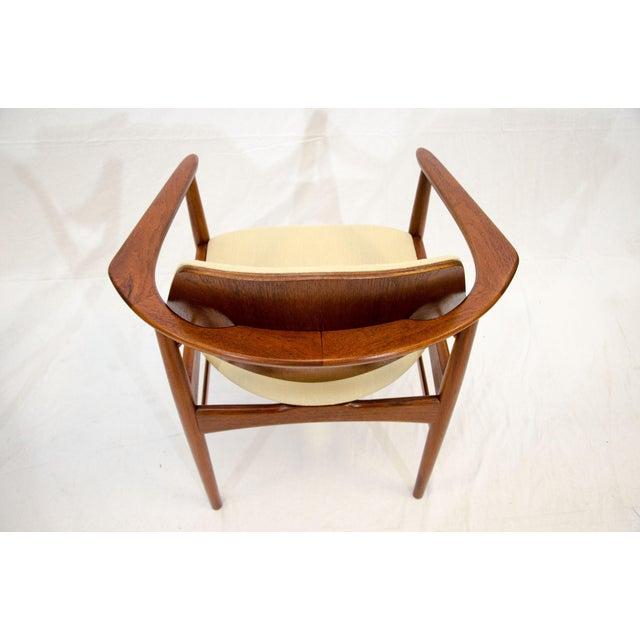 1950s Set of Six Danish Teak Dining Chairs, Arne Hovmand Olsen For Sale - Image 5 of 13