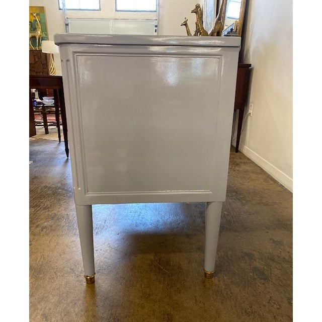 Antique Lacquered Two Drawer Commode For Sale - Image 4 of 6