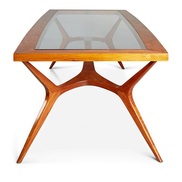 Brown 1950s Vintage Giuseppe Scapinelli Brazilian Sculptural Dining Table For Sale - Image 8 of 11