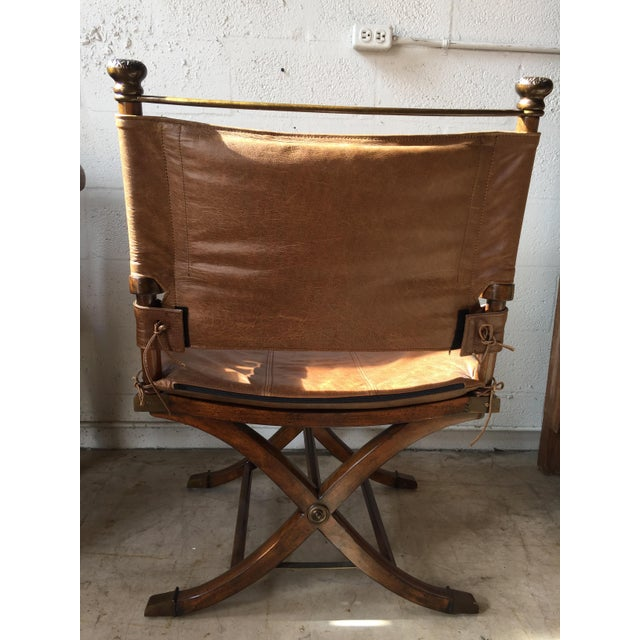 Safari Leather Side Chair - Image 2 of 4