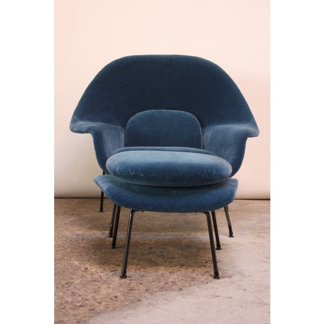 1950s 1950s Early Production Eero Saarinen for Knoll Womb Chair and Ottoman - a Pair For Sale - Image 5 of 13