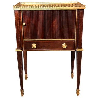 Russian Neoclassic Mahogany End Table For Sale