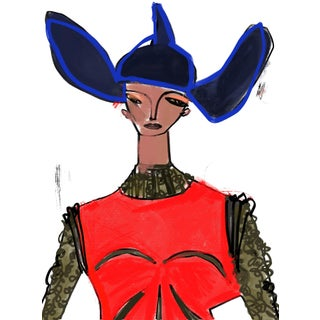 """Loewe Fw19"" Limited Edition Print by Annie Naranian For Sale"