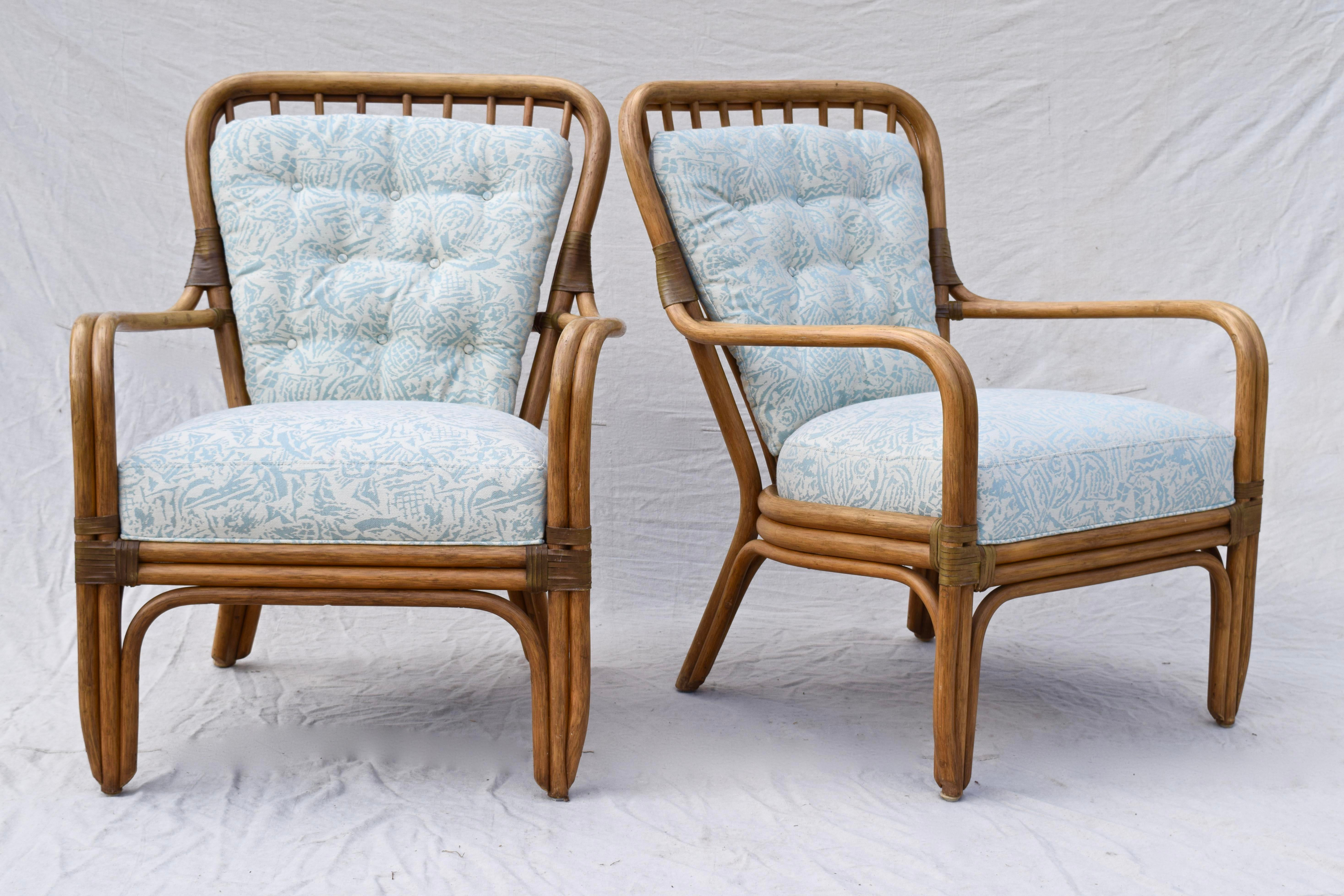 Palecek Large Pole Bent Bamboo Chairs   A Pair For Sale   Image 12 Of 12