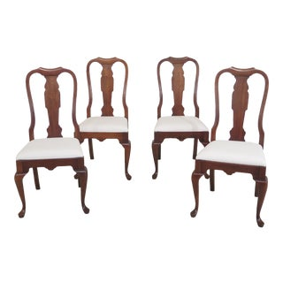 Pennsylvania House Cherry Queen Anne Dining Room Chairs- Set of 4 For Sale