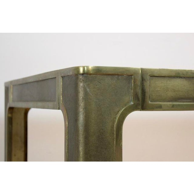 Peter Ghyczy Style Brass and Glass Coffee table - Image 3 of 8