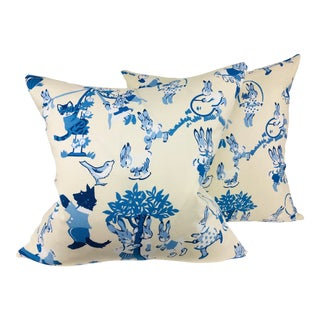 Lee Jofa Cotton Print Pillows – a Pair For Sale