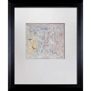 """Paul Klee Lithograph """"Gartentor M"""" Limited Edition, Sign W/Frame Included For Sale"""