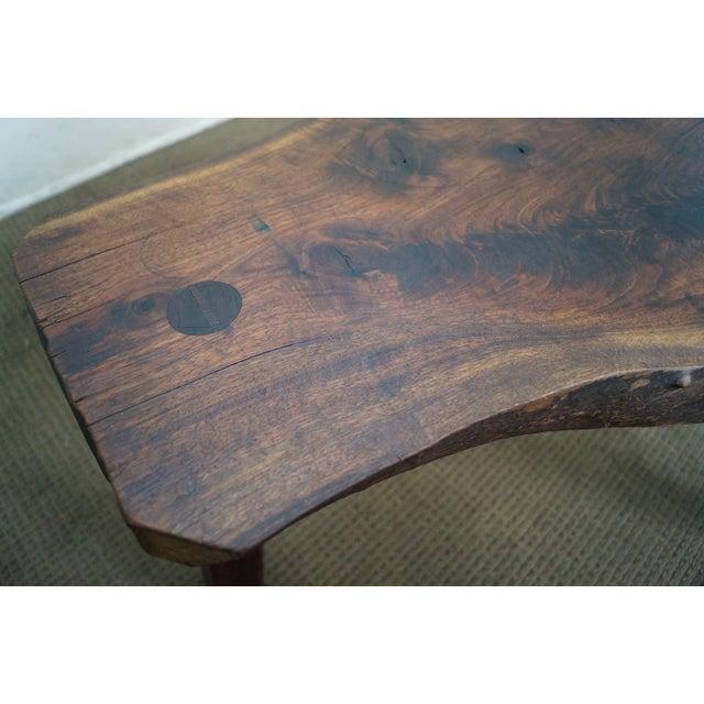 Vintage Walnut Free Form Slab Side Table - Image 10 of 10