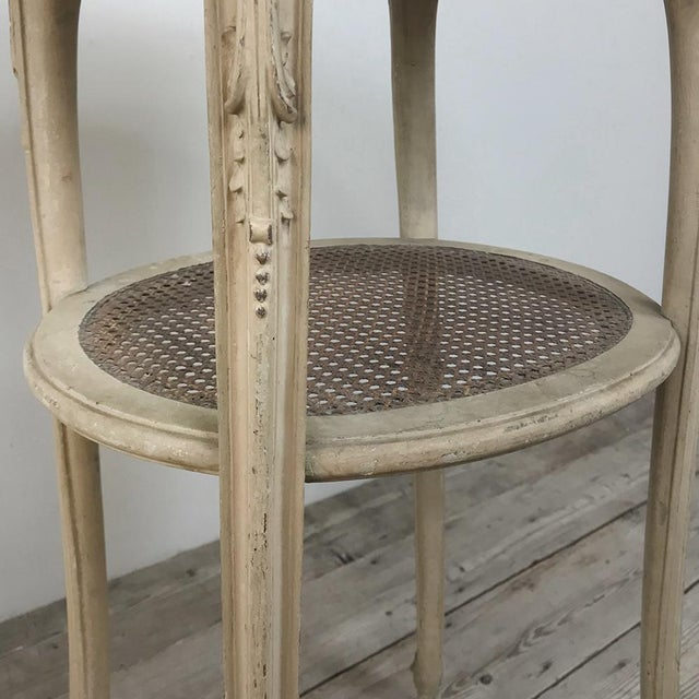19th Century French Louis XVI Painted Oval End Table For Sale - Image 11 of 13