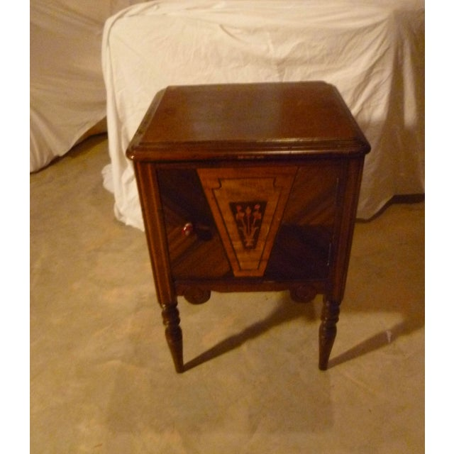 Brown 19th Century Italian Side Table With Storage Nightstand For Sale - Image 8 of 8