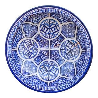 Ceramic Bowl W/ Fine Arabesque Pattern For Sale