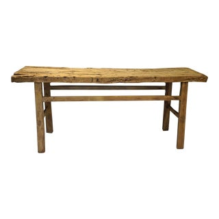 Rustic Wood Altar Console Table For Sale
