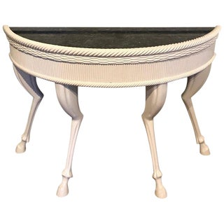 Modern Lacquered Hoof Foot Console, in the Manner of John Dickinson For Sale