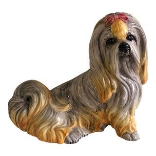 Vintage Italian Made Blonde Pup Figurine