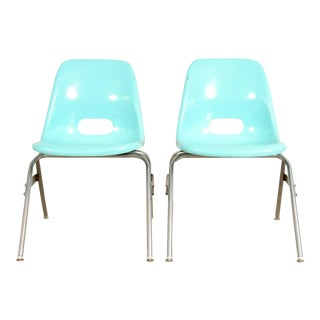 Mid-Century Children's Blue Fiberglass Shell Chair - Multiple Available Preview