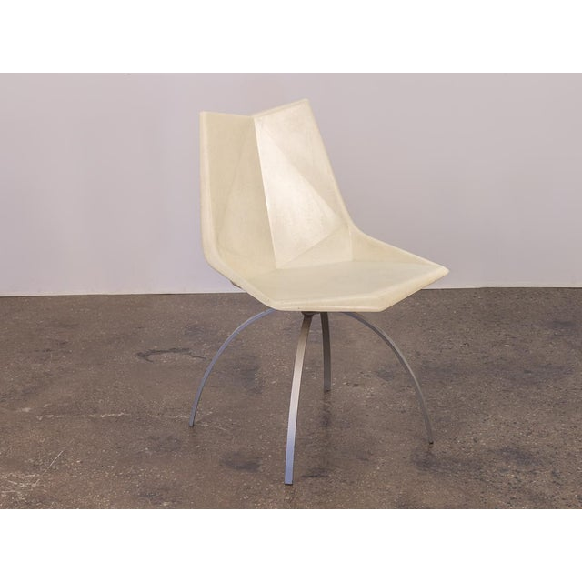 Paul McCobb White Origami Chair on Spider Base For Sale - Image 9 of 9