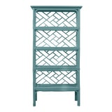 Image of David Francis Furniture for Chairish Chippendale Etagere, Aegean Teal For Sale