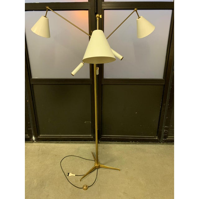 1950s Triennial Floor Lamp by Angelo Lelli for Arredoluce For Sale - Image 9 of 9
