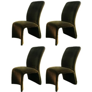 Late 20th Century Contemporary Shells Inc. Upholstered Dining Chairs- Set of 4 For Sale