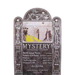 1981 Edward Gorey, PBS MYSTERY! Poster