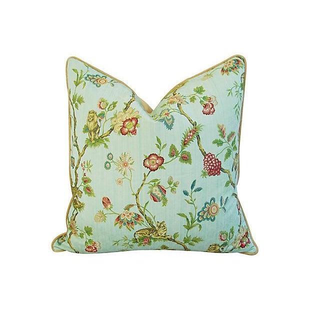 Italian Scalamandre Fleur Des Indes Pillows - Pair - Image 4 of 11