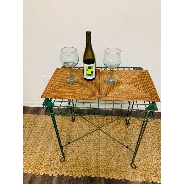 Victorian Iron Scroll Garden Patio Table With Tray For Sale - Image 11 of 13